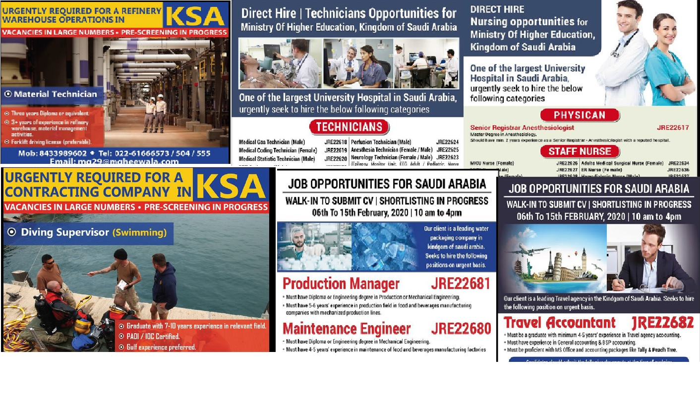 Abroad Jobs 10th Feb 2020