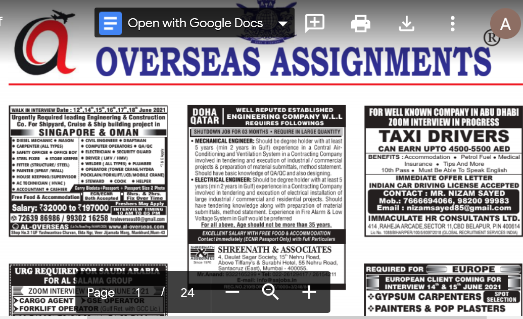 Assignment Abroad Times 01st September 2021