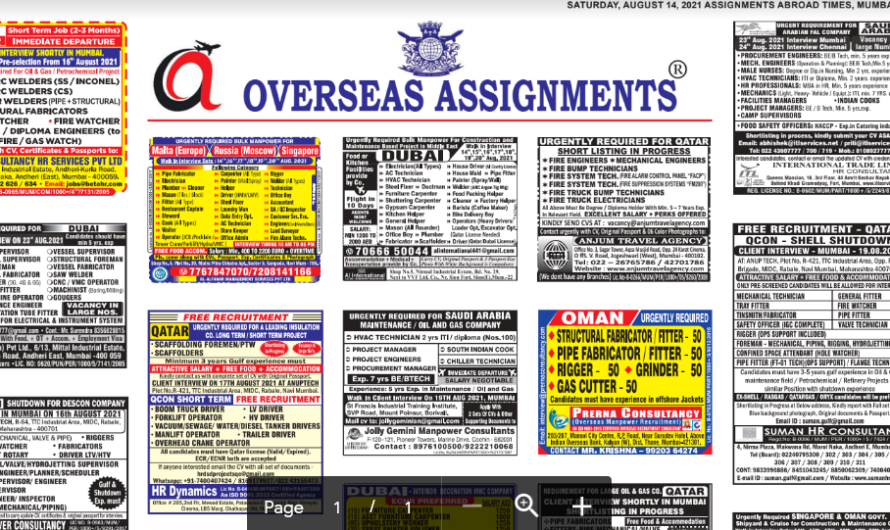 Assignment Abroad Times 14th August 2021