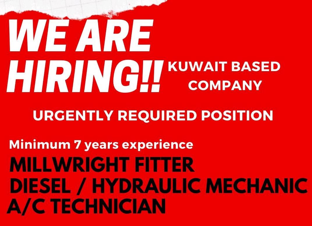 WE ARE HIRING KUWAIT BASED COMPANY