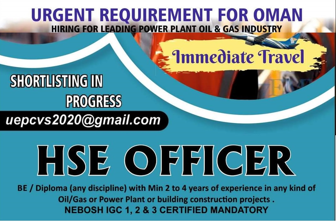 URGENT REQUIREMENT FOR OMAN