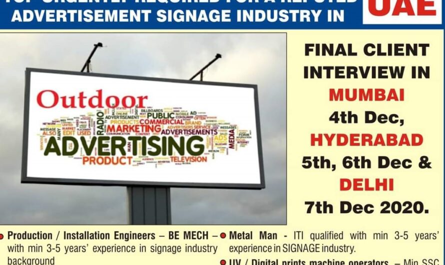 TOP URGENTLY REQUIRED FOR A REPUTED COMPANY UAE