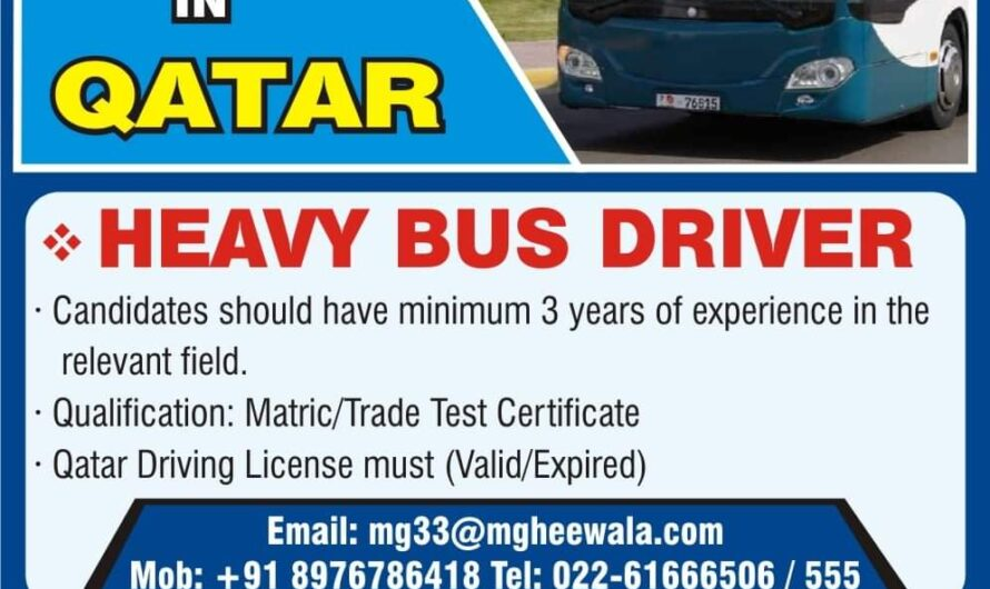 URGENTLY REQUIRED  FOR'& REPUTED, TRANSPORT' a COMPANY QATAR