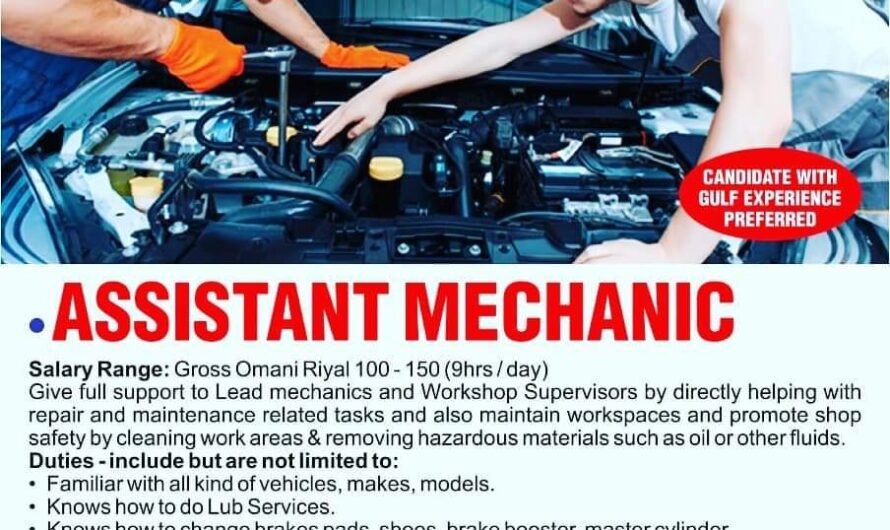 SULTANATE OF OMAN REQUIRED FOR A REPUTED CAR REPAIRING CENTER