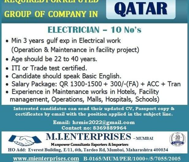 REQUIRED FOR REPUTED QATAR